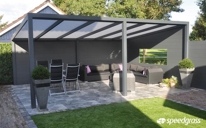 P rgolas y porches de aluminio premium speedgrass - Porches de aluminio y cristal ...
