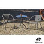 CONJUNTO ACERO LEYDEN 60/2, mesa y sillas